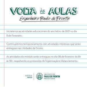 Read more about the article Volta às aulas
