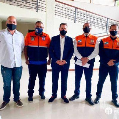Prefeito, Subsecretário e equipe da Defesa Civil Municipal participam de Encontro da REDEC SUL