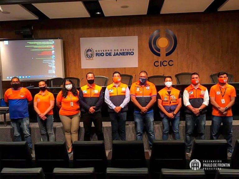 Defesa Civil de Paulo de Frontin visita Centro Estadual de Monitoramento e Alerta de Desastres Naturais(CEMADEN-RJ)