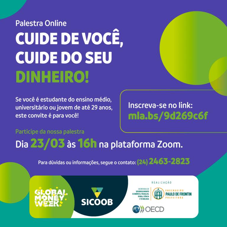 Secretaria de Desenvolvimento Econômico, Trabalho, Renda, Ciência e Tecnologia de Paulo de Frontin realiza palestra gratuita em parceria com Sicoob e OECD