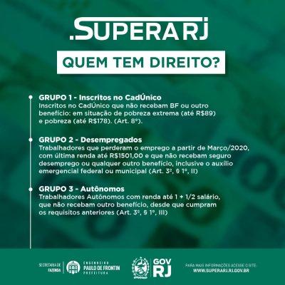 Auxílio Emergencial do Estado do Rio de Janeiro – Supera RJ