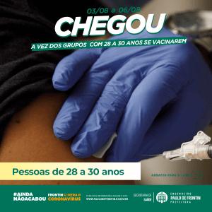 Read more about the article Vacinação das pessoas com 28 à 30 anos