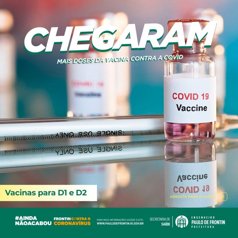 O nosso município recebeu mais lotes de vacinas contra a Covid-19.