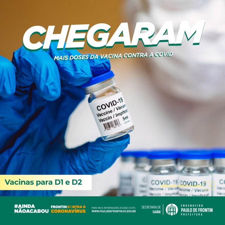 Chegaram mais lotes de vacinas contra a Covid-19
