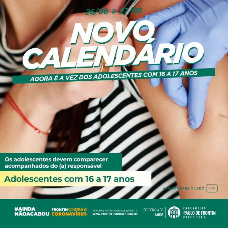 Vacinação dos adolescentes com 16 à 17 anos