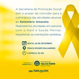 Read more about the article Atividades alusivas ao Setembro Amarelo