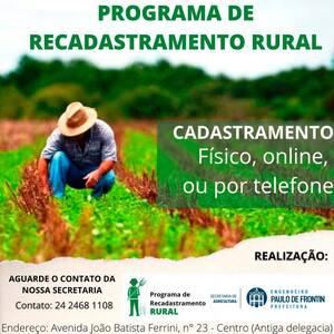 Read more about the article Programa de Recadastramento Rural